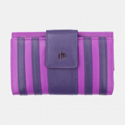 Primehide Rio Stripes Leather Purse Purple 5250