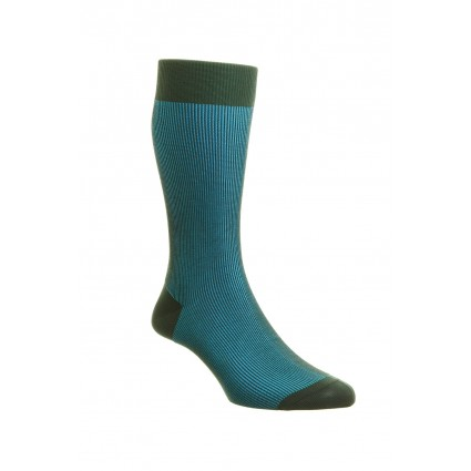 Pantherella Mens Santos Cotton Lisle Socks Green