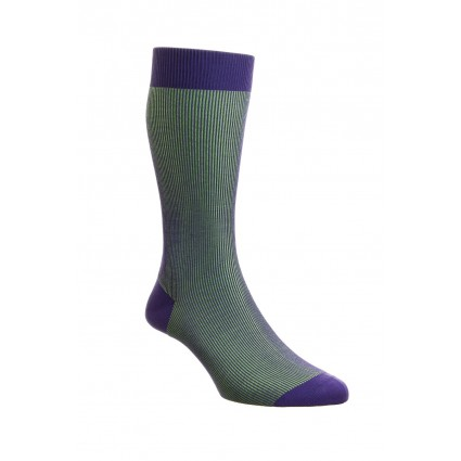 Pantherella Mens Santos Cotton Lisle Socks Purple