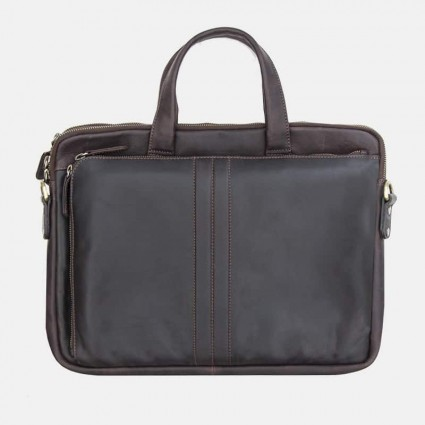 Primehide Leather Laptop Bag 5830 Brown