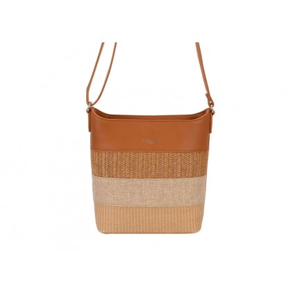 David Jones Faux Straw Crossbody Bag