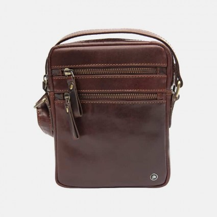 Primehide Leather Travel Flight Bag Brown