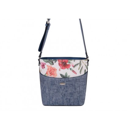 David Jones Denim Floral Crossbody Bag