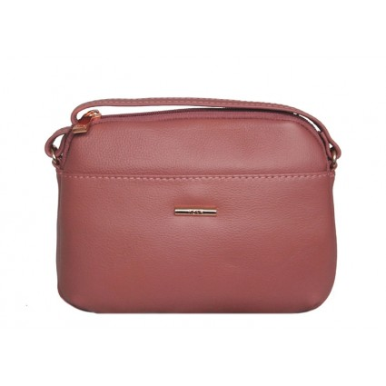 Nova Leathers Zip Around Cross Body Bag Dusky Pink 8108