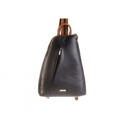 Nova 814 Leather Backpack Black & Chestnut