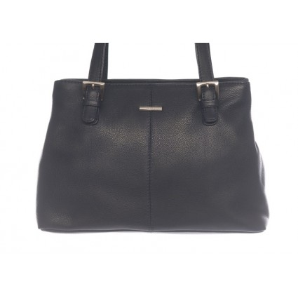 Nova 816 Leather Shoulder Handbag Navy