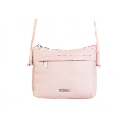 Nova 819 Leather Petite Cross Body Bag Pink
