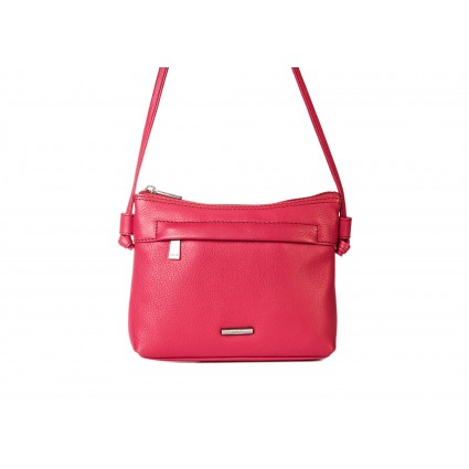 Nova 819 Leather Cross Body Handbag Pink Poppy