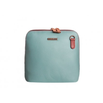Nova Leather Crossbody Bag Aqua Pink 820