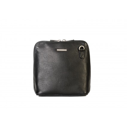 Nova 820 Leather Small Cross Body Bag Black