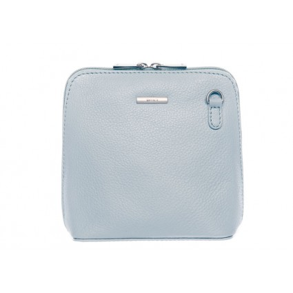 Nova 820 Small Leather Cross Body Handbag Light Blue