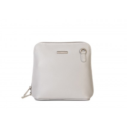 Nova 820 Small Leather Cross Body Handbag Dove Grey