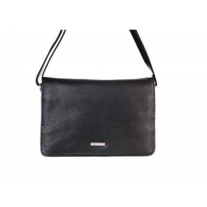 Nova 826L Leather Cross Body Bag Black