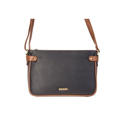 Nova Leather Handbag Navy & Chestnut 844