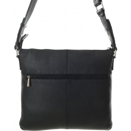 Nova 849 Leather Cross Body Handbag Black