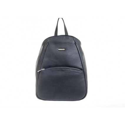 Nova 873 Leather Backpack Navy