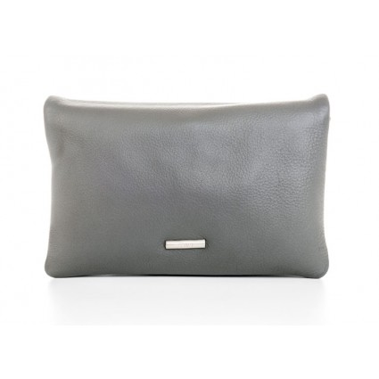 Nova 878 Leather Petite Cross Body Bag Grey