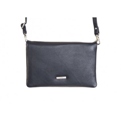 Nova Leather Crossbody Clutch Bag Navy 878