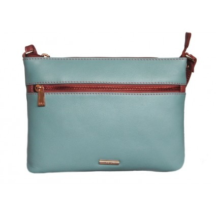 Nova Leather Crossbody Bag Aqua Dusky Pink 879