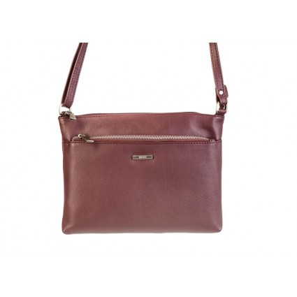 Nova 879 Leather Cross Body Handbag Burgundy