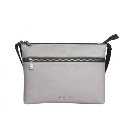 Nova Leather Crossbody Bag Dove Grey 879