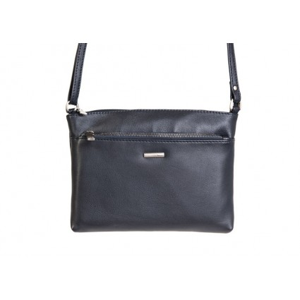 Nova 879 Leather Cross Body Handbag Navy
