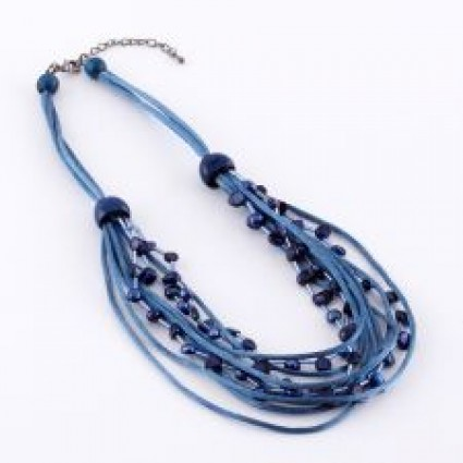 Dante Necklace Blue String