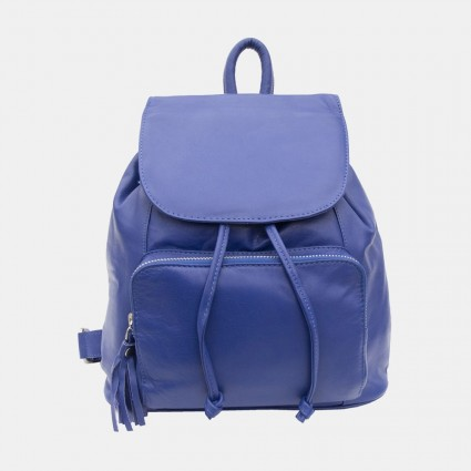 Primehide Leather Backpack in Cobalt Blue 914