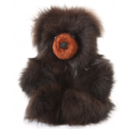 Alpaca Teddy Bear Brown Medium