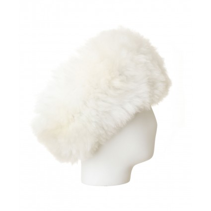 Alpaca Fur Headband White