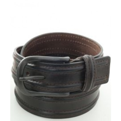 Brax Leather Ridged Belt Brown