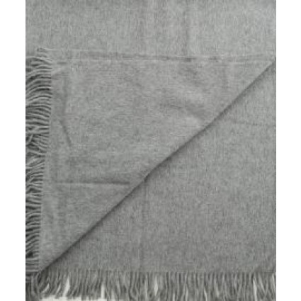 Alpaca & Wool Blanket / Throw Grey