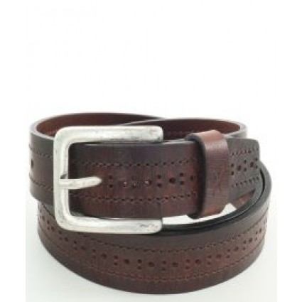 Brax Leather Holepunched Belt Brown