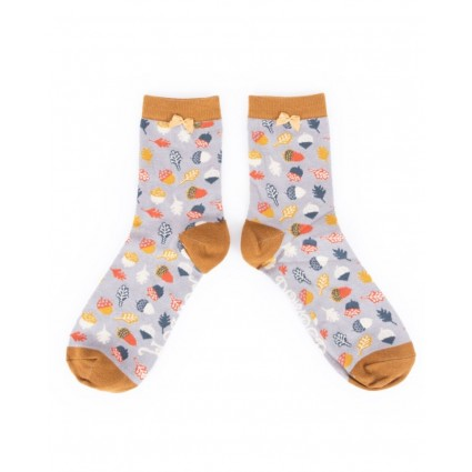 Powder Acorn Bamboo Ankle Socks Slate