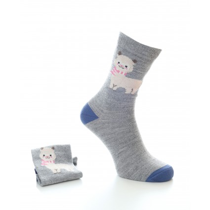 Alpaca Alice Socks Grey