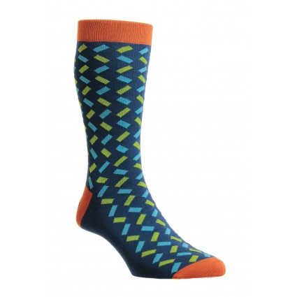 Pantherella Mens Allen Cotton Socks Ocean