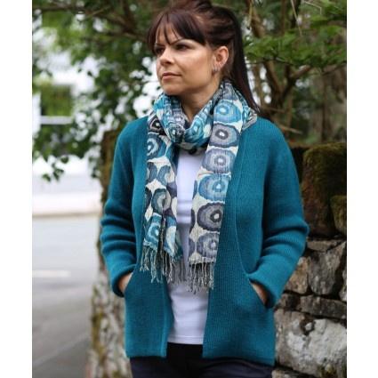 Alpaca Megan Edge To Edge Cardigan Jade