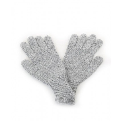Alpaca Gloves Light Grey