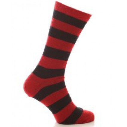 Alpaca Everyday Stripey Socks Red
