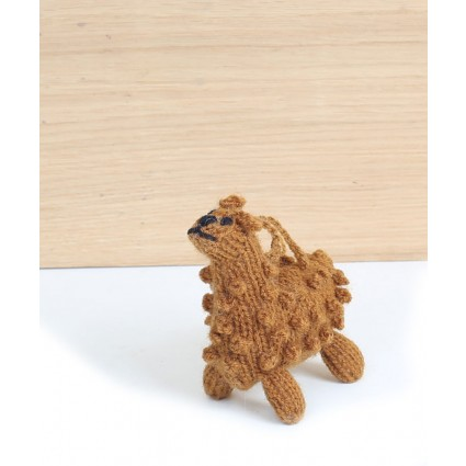 knitted alpaca decoration