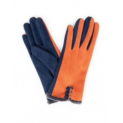 Powder Amanda Faux Suede Gloves Tangerine