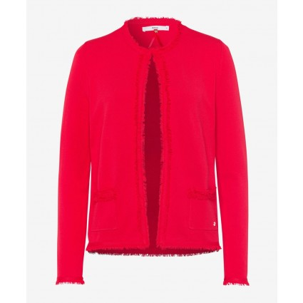 Brax Ann Fringed Cardigan Red