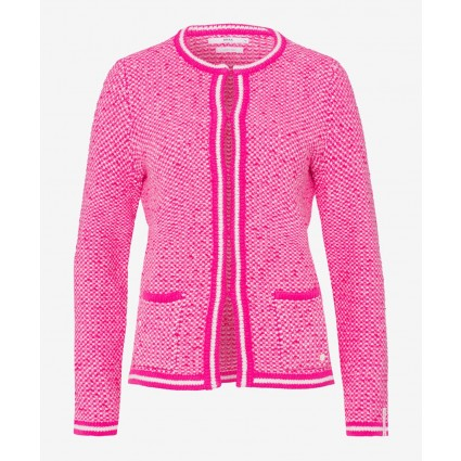 Brax Ann Cotton Cardigan Pink
