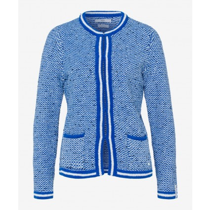 Brax Ann Cotton Cardigan Blue