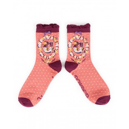Powder Bamboo Alphabet Socks G