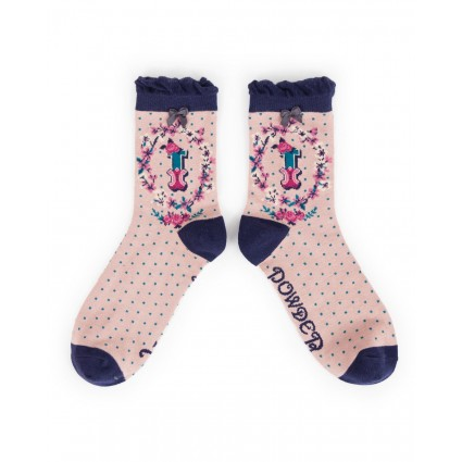 Powder Bamboo Alphabet Socks I