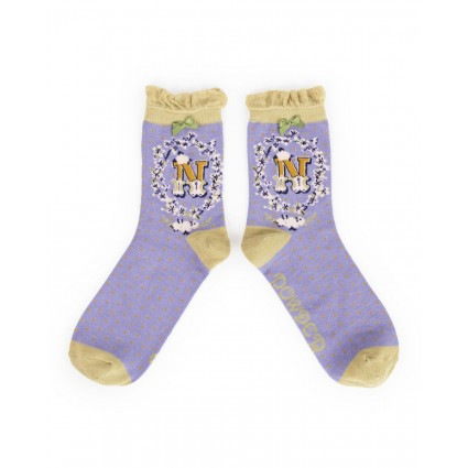 Powder Bamboo Alphabet Socks N