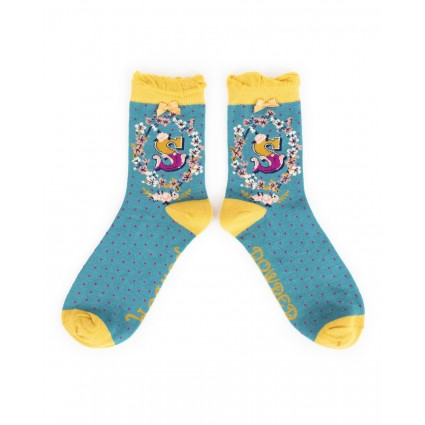 Powder Bamboo Alphabet Socks S
