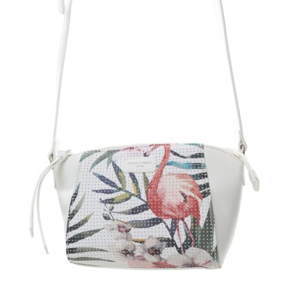 David Jones Tropical Crossbody Bag White
