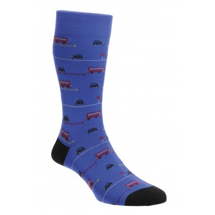 Pantherella Bayswater London Bus Socks Royal